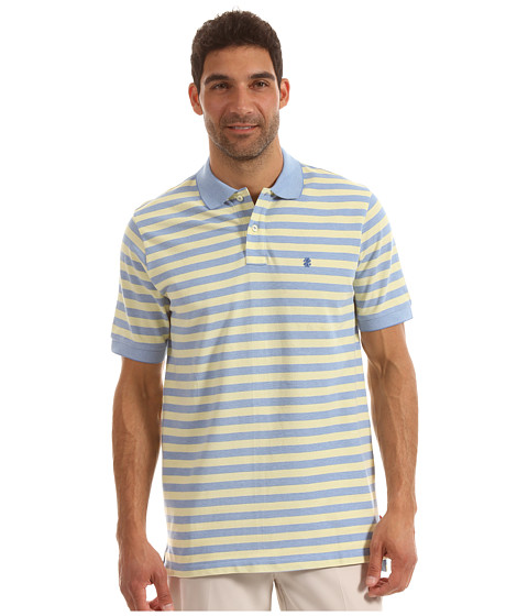 Tricouri IZOD - Short Sleeve Oxford Stripe Pique - Blue Revival
