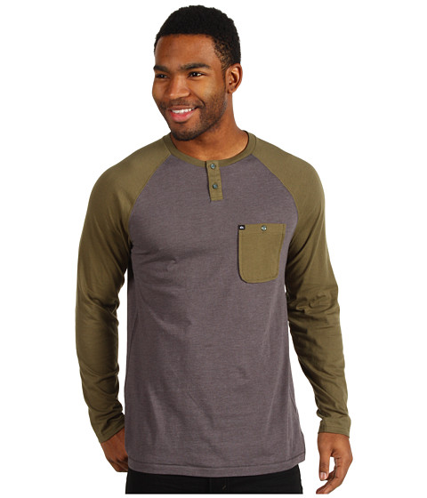 Tricouri Quiksilver - Ah Shucks Henley - Fatigue Green