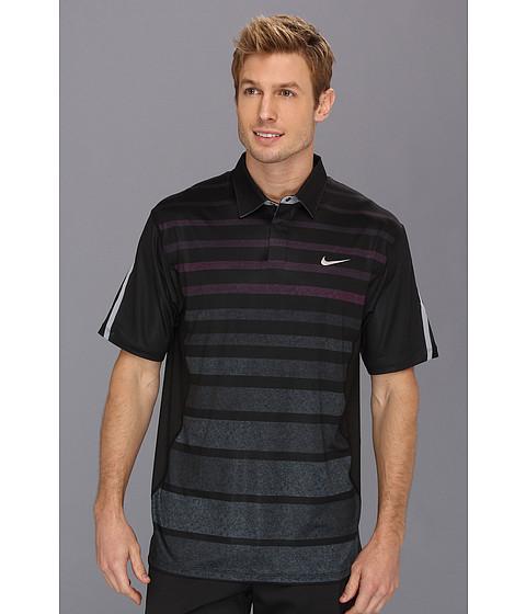 Tricouri Nike - Tiger Woods Stripe Polo - Black FA 2013