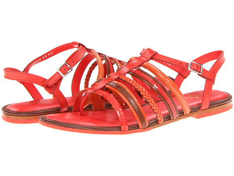 Sandale Cole Haan - Nassau Flat Sandal - Cherry Tomato/Sequoia/Orange Pop