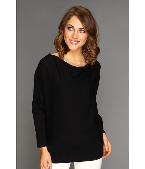Bluze Michael Kors - Cowl Neck Zip Shoulder Sweater - Black