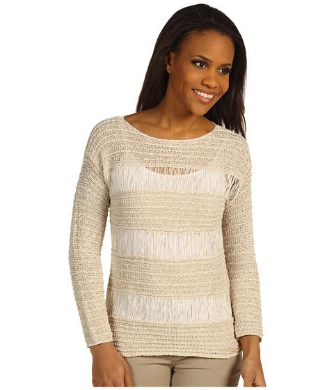 Bluze Michael Kors - Stripe Tape Yarn L/S Sweater - Sandshell
