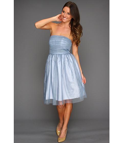 Rochii Donna Morgan - Kaylin Multi-directional Pleated Bustier Dress - Blue Dusk