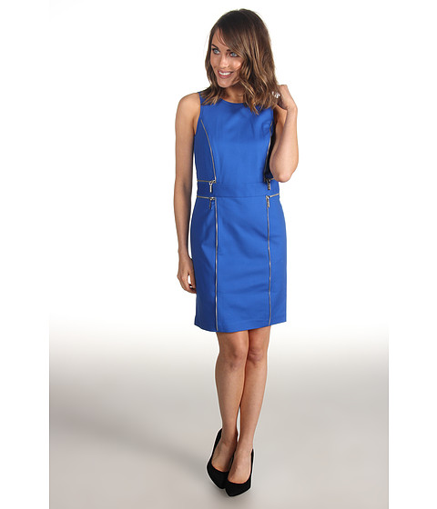 Rochii Michael Kors - Petite Sheath Double Zip Dress - Urban Blue