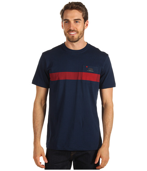Tricouri Toes on the Nose - One California Dayâ⢠Cali Stripe Tee - Navy