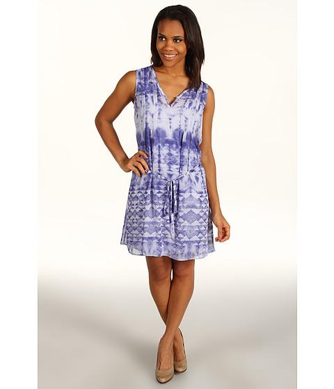 Rochii Calvin Klein - Tie Dye Dress - Mazarine Blue Combo