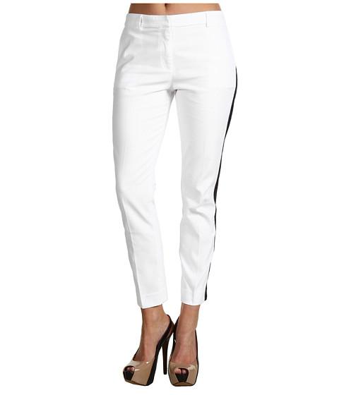 Pantaloni Lacoste - Tuxedo Capri Pant - White/Juniper Blue