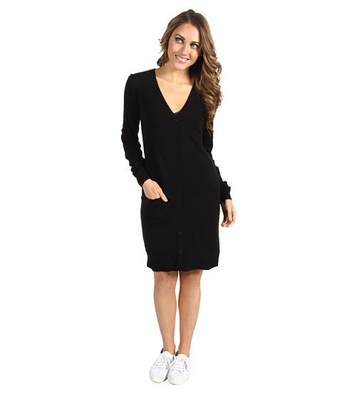 Rochii Lacoste - L/S Merino Wool Cardigan Dress - Black