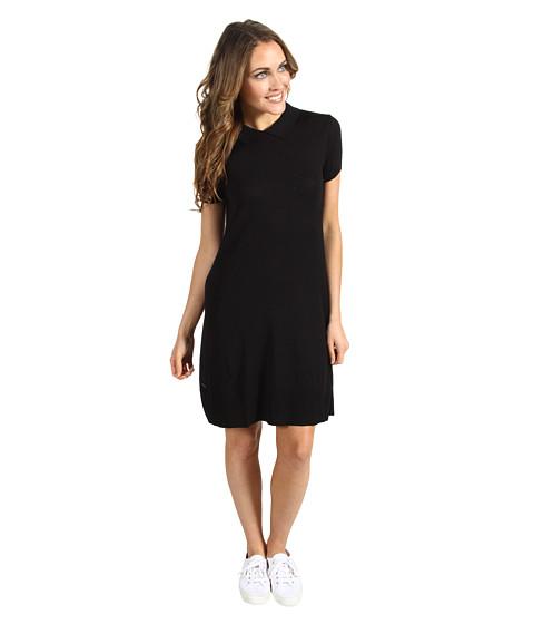 Rochii Lacoste - S/S Sweater Polo Dress w/ Button Back - Black