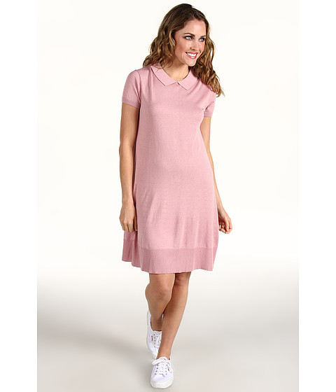 Rochii Lacoste - S/S Sweater Polo Dress w/ Button Back - Romantic Pink