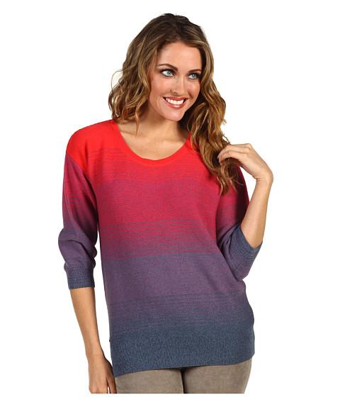 Bluze Lacoste - Scoopneck Ombre Sweater - Dark Dusk Blue/Heather DU