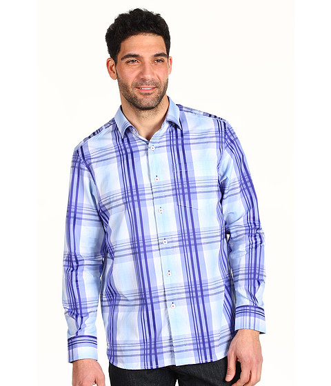 Camasi Tommy Bahama - State Room Plaid L/S Woven - Peri