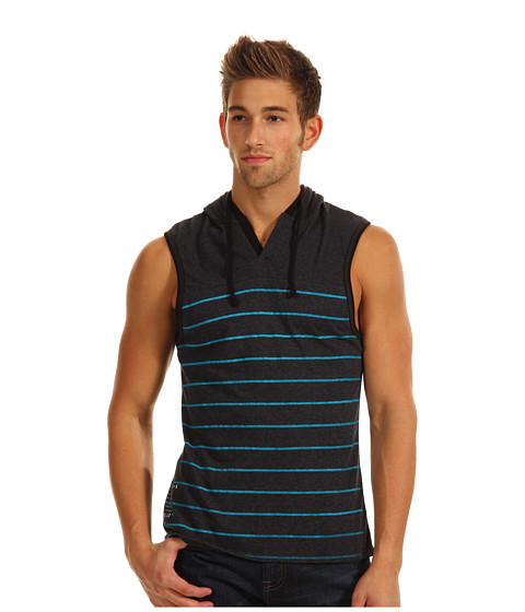 Bluze ECKO - Striped Sleeveless Hoodie - Black