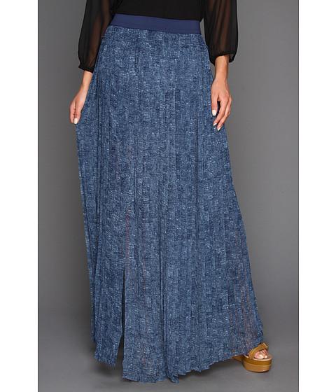 Fuste BCBGMAXAZRIA - Print Dillion Paneled Pleated Skirt - Dark Parisian Blue Combo