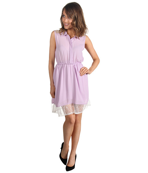 Rochii Gabriella Rocha - Zoey Button Up Lace Dress - Purple