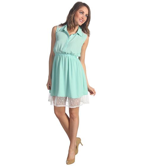 Rochii Gabriella Rocha - Zoey Button Up Lace Dress - Mint