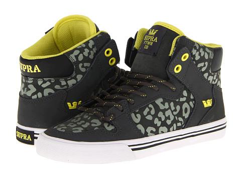 Adidasi Supra - Vaider - Charcoal/Cheetah/Lime