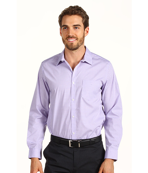 Tricouri Calvin Klein - L/S Yarn Dye End On End Check Poplin Woven Shirt - Madras Purple