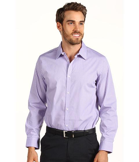 Tricouri Calvin Klein - L/S Yarn Dye End On End Striped Poplin Woven Shirt - Sultan Purple