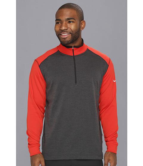Bluze Nike - New Dri-FIT 1/2 Zip Cover Up - Black/Gamma Orange