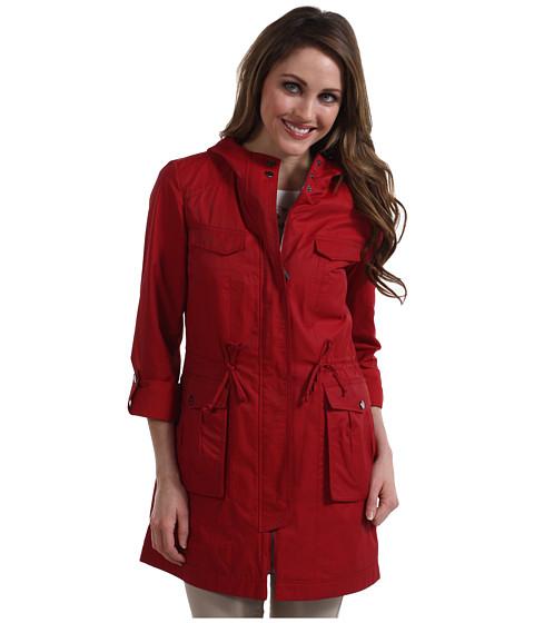 Jachete Cole Haan - Four Pocket Cotton Rain Hooded Jacket - Red