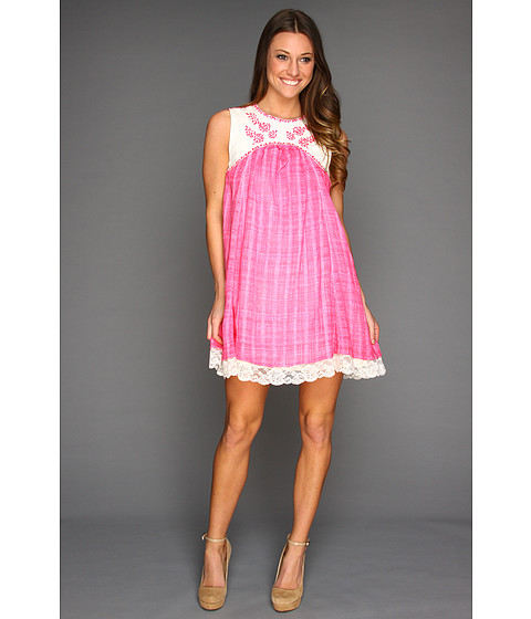 Rochii Free People - Strawberry Fields Dress - Hot Pink