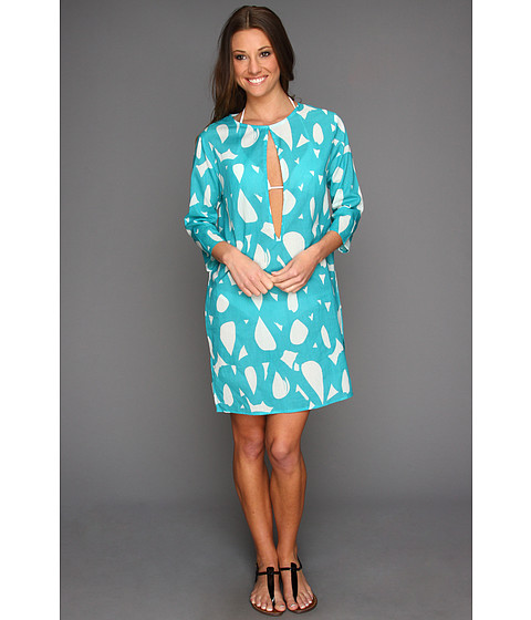 Costume de baie Echo Design - Mambo Circles Keyhole Tunic Coverup - Turquoise