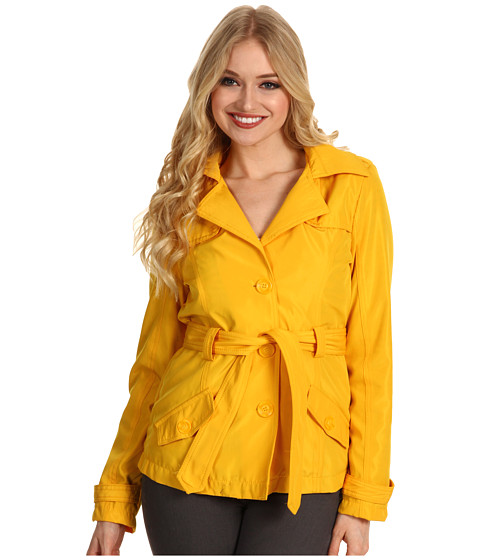 Geci dollhouse - Belted SB Trench w/ Front & Back Rain Shields - Bright Yellow