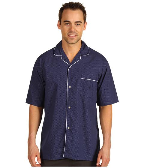 Lenjerie Nautica - Mediterranean Dot Print S/S Sleep Camp Shirt - Peacoat