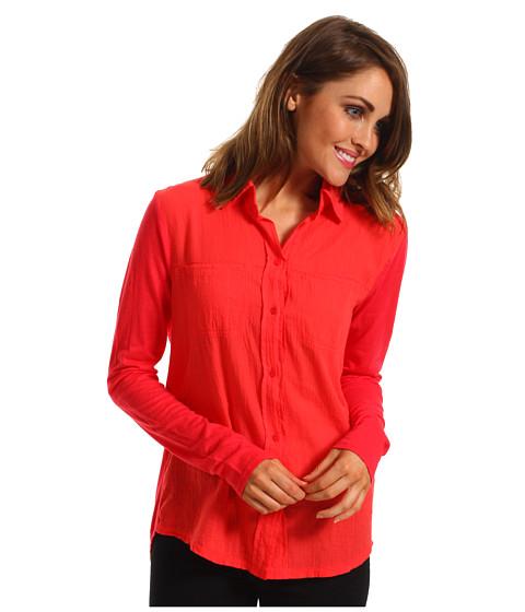 Bluze Michael Stars - Luxe Slub w/ Voile Button Up Shirt - Julius