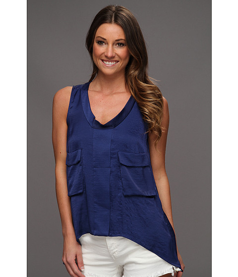 Bluze BCBGMAXAZRIA - Tiiu Woven Tank Top with Double Pockets - Cobalt