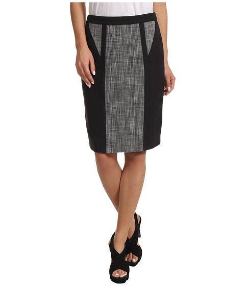 Fuste Calvin Klein - Graphic Tweed Pencil Skirt - Black/Ivory Combo