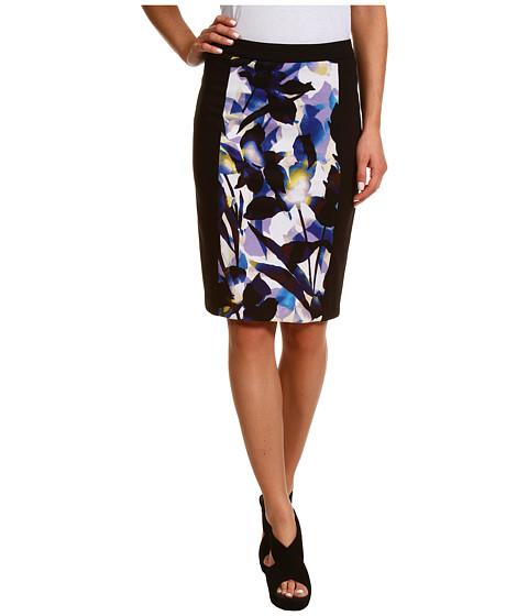 Fuste Calvin Klein - Printed Pencil Skirt - Ultramarine/Black Multi