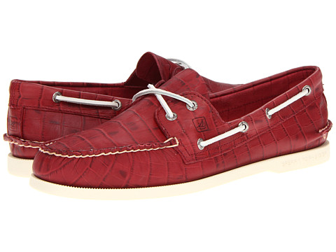 Pantofi Sperry Top-Sider - A/O 2-Eye Croc Emboss - Red