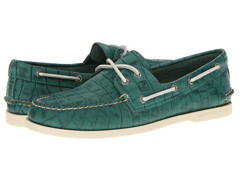 Pantofi Sperry Top-Sider - A/O 2-Eye Croc Emboss - Green