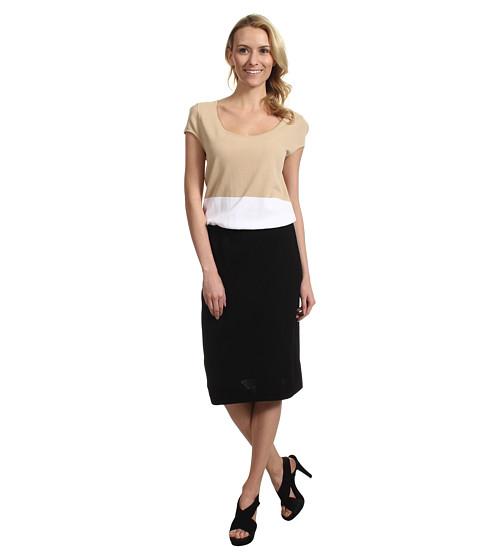 Rochii Jones New York - Mixed Media Sleeveless Dress - Almond Multi