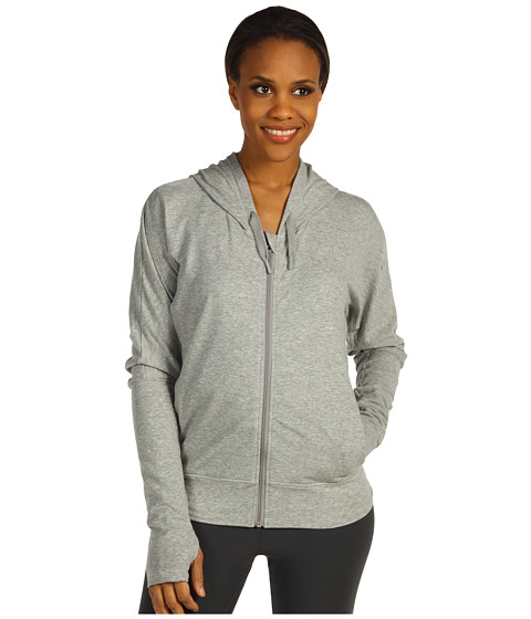 Bluze Nike - Cocoon Full-Zip Yoga Hoodie - Dark Grey Heather/Medium Grey
