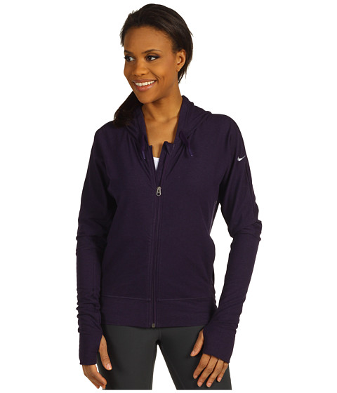 Bluze Nike - Cocoon Full-Zip Yoga Hoodie - Grand Purple Heather/Grand Purple