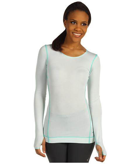 Bluze Nike - Harmony Slim L/S Yoga Top - Fiberglass/Atomic Teal/Fiberglass