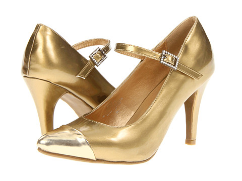 Pantofi Type Z - Kala - Soft Gold Metallic Patent