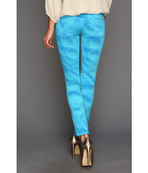 Blugi Juicy Couture - Garment Dye Crop Jeans - Blue Tropic