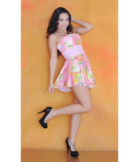 Rochii Sevy - Rochie Silk Flowers - Universala