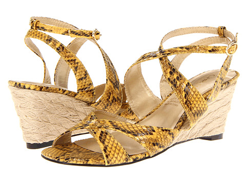 Sandale Christin Michaels - Alecia - Golden Rod Yellow Painted Cobra PU