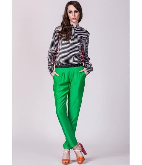 Bluze Moja - Camasa cu dungi verticale - Alb/Negru