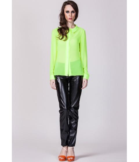 Bluze Moja - Camasa din voal verde - Verde
