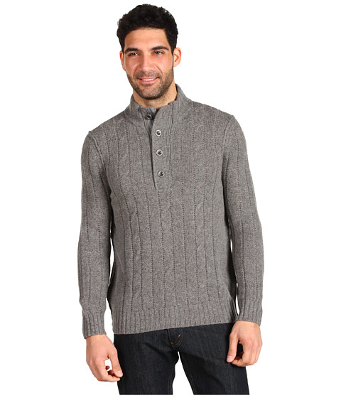 Bluze Tommy Bahama - Outer Banks Button Mock - Grey Heather