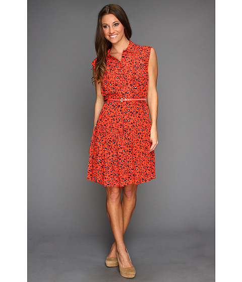 Rochii elegante: Rochie French Connection - Cheetah Crepe Shirtdress - Holiday Crush/Nocturnal/Calico
