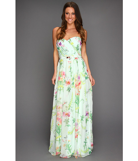 Rochii elegante: Rochie Ted Baker - Serlant Wallpaper Floral Print Maxi Dress - Mint