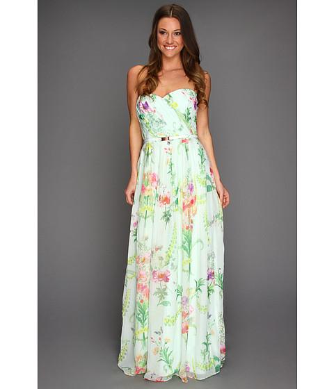 Rochii elegante: Rochie Ted Baker - Serlant Wallpaper Floral Print Maxi Dress - Mint