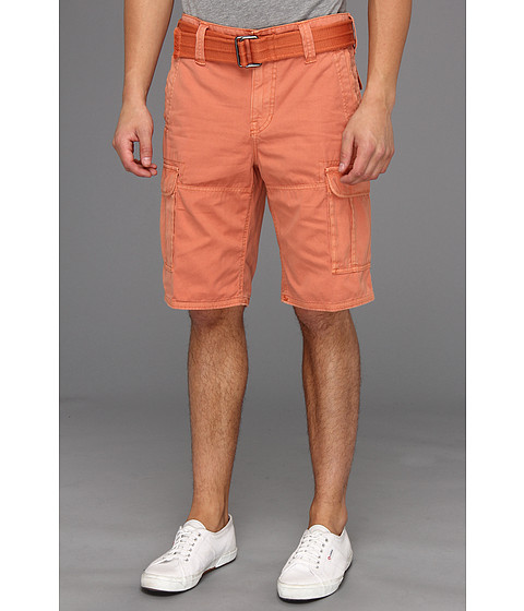 Pantaloni DKNY - Overdyed Canvas Cargo Shorts - Orange Zinger
